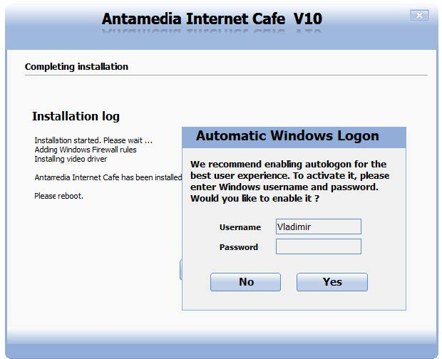 Internet Cafe Installation I Antamedia software
