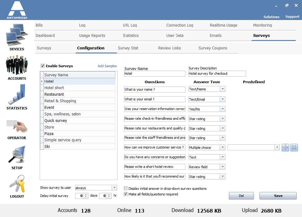 Surveys Coupons I Antamedia Software